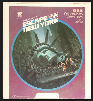 CED Video Disc   ESCAPE FROM NEW YORK