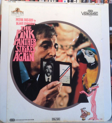 CED Video Disc   PINK PANTHER STRIKES AGAIN