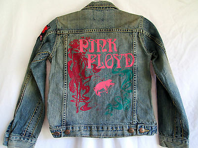 Trunk..a Moment In Time..lim Ed..pink Floyd ..denim..jacket.. Youth Kid's Small