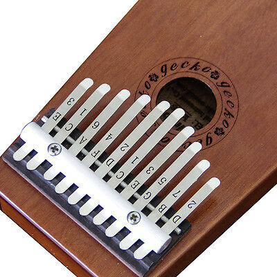 Gecko 10 Key Kalimba African Thumb Piano Hand Percussion