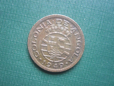 Cent Ten Centavo Portugese Colony ANGOLA 1949 Coin