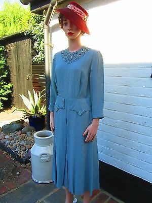 Original Vintage 40's Day dress Hollywood Model Size UK 10