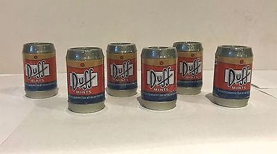 911143 6 x 19.8g PACK OF SIMPSONS DUFF PEPPERMINT FLAVOUR MINTS - MADE IN U.S.A