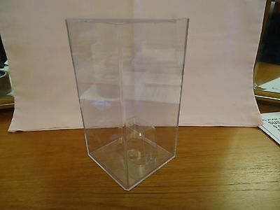 5 ACRYLIC DISPLAY CASES - 8  x 4 x 4 ins. - EXCELLENT CONDITION - STACKABLE
