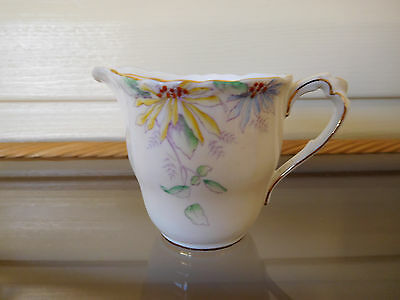 Paragon Floral Milk Jug Handpainted Made In England