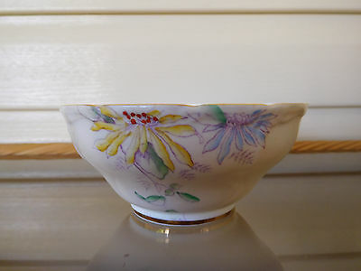 Paragon Floral Sugar Bowl Handpainted Made In England