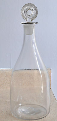 Fine Antique Free Blown Flint Glass Decanter Early 19th Century