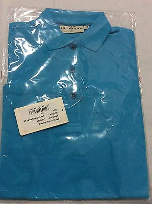 Glenmuir Golf Ladies  Short Sleeve Polo Shirt  Caribbean Blue New  X Small  XS