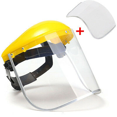 Clear Flip Up Full Face Shield Screen Safety Mask Eye Protector Spare Visors