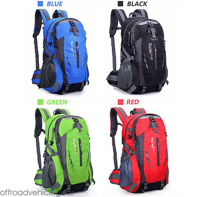40/60L Large Waterproof Nylon Camping Hiking Backpack Sport Outdoor Rucksack Bag