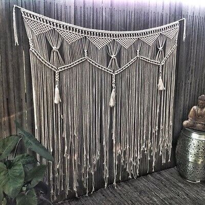 Large Macrame Wall Hanging 1.5mx1.2m Handmade Boho Wedding Backdrop Or Bedhead