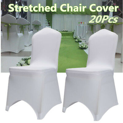 20Pcs Spandex Lycra Chair Covers Wedding Party Banquet Chair Cover White