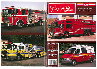 FAJ FIRE APPARATUS JOURNAL,JANUARY/FEB 2004,FDNY Sprinter,ST.Louis FD,PIERCE,etc