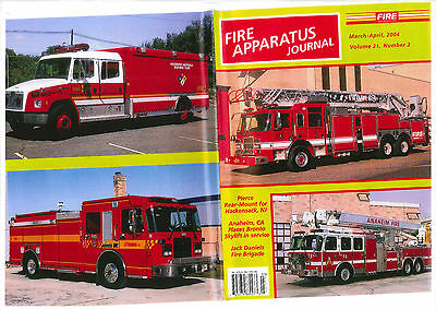 FAJ FIRE APPARATUS JOURNAL,MARCH/APRIL 2004,FDNY,Hackensack PIERCE,JACK DANIELS