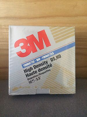 "Brand New 3M 3.5"" Floppy Diskettes Disk High Density 1.44MB"