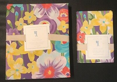 Pottery Barn Kids Poppy Twin Duvet Cover And Pillow Sham Rare Sold Out