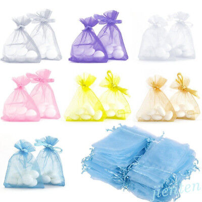 Lots 100Pc Organza Jewelry Packing Mesh Pouch Wedding Favor Supplies Gift Bags