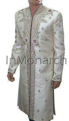 New Arrival Formal Occasion Imperial Cream Bejeweled Sherwani SH353