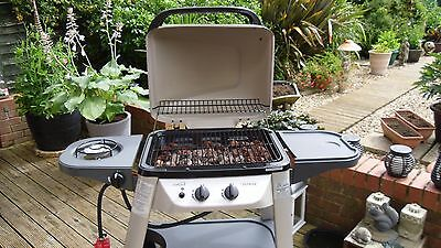 Outback Excel 300 Gas BBQ Barbecue 2 Burners 1 Side Burner + free cover
