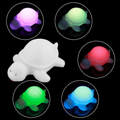 Color Changing Lovely LED Light White Turtle Mood Lamp Night Glow NEW FT