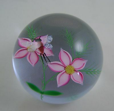 Caithness Paperweight Mayfly & Flowers 1985 William Manson Ltd edition of 250