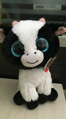 Soft Toy From TY BEANIES BOOS Butter the Cow Boo 6 inch Stuffed toy
