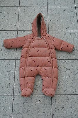 Mamas and Papas M&P Pink Cord Padded Pramsuit Snowsuit All in One 3-6 Months