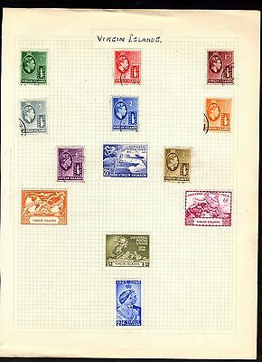 Stamps ~ VIRGIN ISLANDS Including HIGH VALUES ~ On Album Page UNSORTED Unchecked