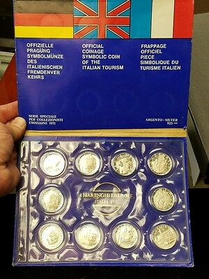 Official Symbolic Coinage of Italian Tourism Italy 10 Coin Set I Marenghi Del So