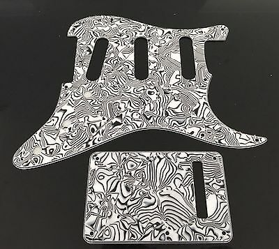 Zebra Style Electric Guitar Pickguard Strat Style replacement SSS Set