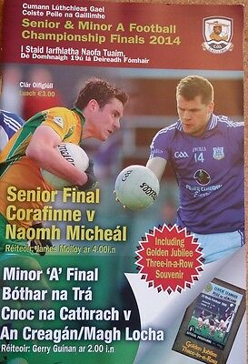 GAA Galway 2014 county final programme football with 1966 souvenir booklet