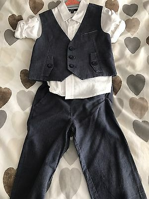Boys Blue M&S Suit 18-24 Months