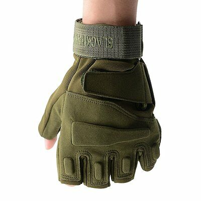 Men Fitness Gym Half Finger Gloves Weight Lifting Exercise Sports Glove F7