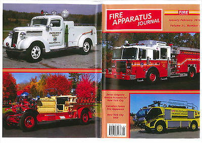 FAJ FIRE APPARATUS JOURNAL,JAN/FEB 2014,FDNY 1963,Seagrave,Canadian Military FD