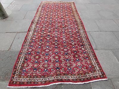 Old Traditional Persian Rug Oriental Hand Made Wool Red Pink Long Rug 320x142cm