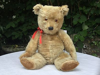 "William Is An Adorable Vintage Chiltern Hugmee Teddy Bear-Large 20""-C.1958-"