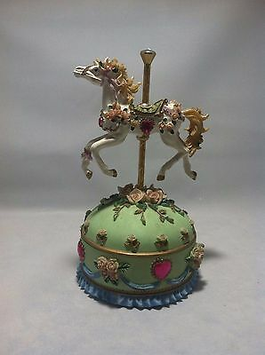 Stephanie Painted Ponies Collection Carousel Horse Music Trinket Box, EUC