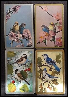 VINTAGE PAIRS - BIRDS - SWAP PLAYING CARDS (4 Cards)