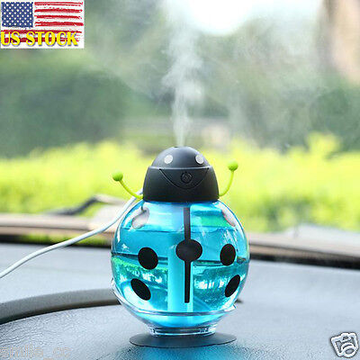 Mini Portable Beatles LED Home Aroma Humidifier Air Diffuser Purifier Atomizer