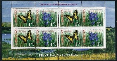 Lithuania 2009 MINIATURE SHEET BUTTERFLYS MINT NEVER HINGED