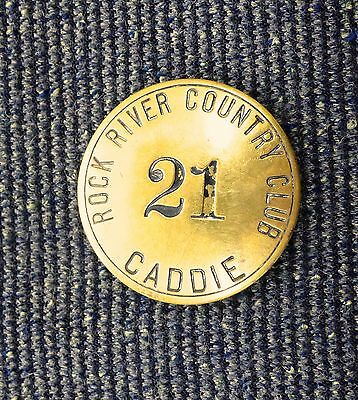 Rock River Country Club Caddie Badge Rock Falls, Illinois Opened 1913