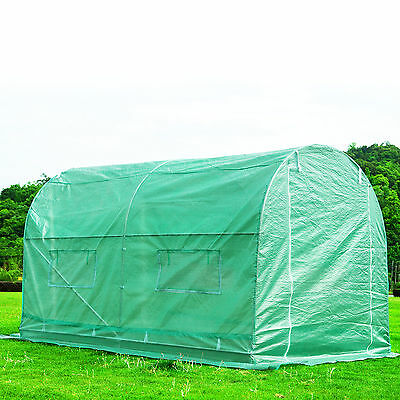 BN 3M X 2M Fully Galvanised Steel Frame Poly Tunnel Greenhouse Polytunnel Tunnel