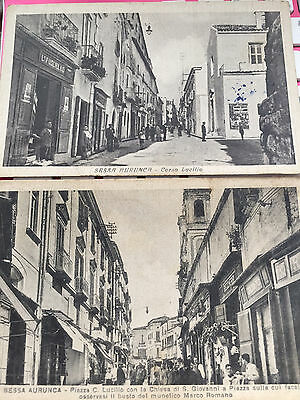 vintage postcards  2 x card of SESSA AURANCA . ITALY  STREET VIEWS  GOOD DETAIL