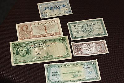 World Banknotes Collection X 6