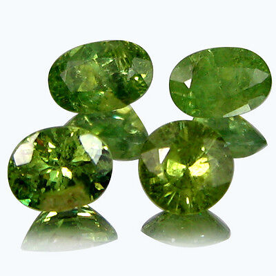 2.100 Cts EARTH MINED RARE HORSETAIL NATURAL DEMANTOID GARNET OVAL LOT GEMSTONES