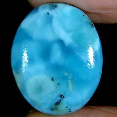 17.55cts 100% NATURAL GORGEOUS SKY BLUE LARIMAR OVAL CABOCHON DOMINICAN GEMSTONE