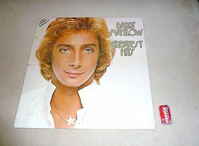 Barry Manilow Memorabilia Vintage Giant 3' X 3' Record Store Sign Greatest Hits