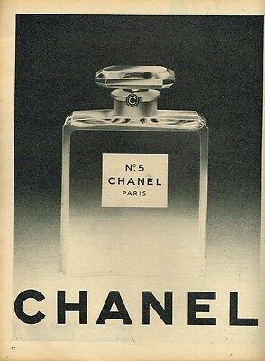 K- Publicité Advertising 1961 Parfum N°5 Chanel