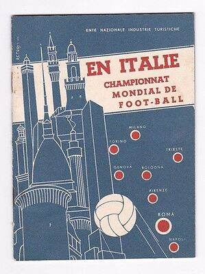1934 World Cup Italy Official Programme Guide And Tourist Information Booklet