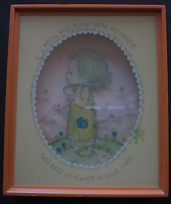 Shadow Box 3D Picture Plaque Praying Child Hallmark Cards 5.5 inch x 4.75 inch